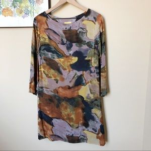 Anthro Maeve Watercolor Shift Dress Size S